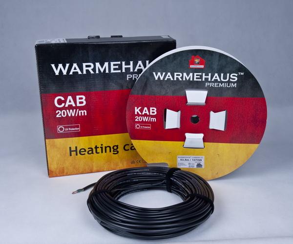Теплый пол двужильный Warmehaus CAB 20W UV